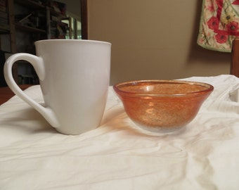 Red/Grey Hand Blown Glass Bowl