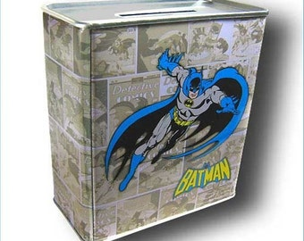 DC Comic Batman Comic Book Tin Money Bank