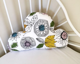 Cloud Cushion // Geo Style Modern Print // Perfect For A Nursery, Bedroom // Ready To Ship