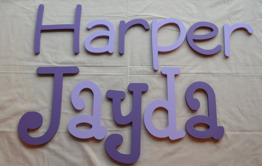 On Sale Painted Wooden Letters Custom Wooden Name Signs