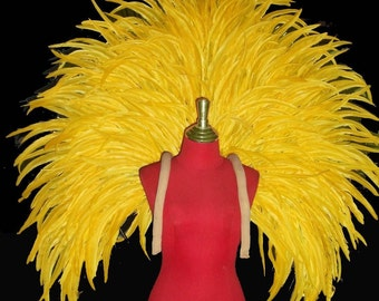 Vegas Showgirl Drag Feather Carnival Samba Stage Parade Backpiece