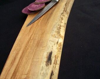 Natural cutting board, Rustic Wood Cutting Board, OOAK, organic  Bigleaf Maple, live edge
