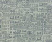 Aqua House and City Fabric - Mon Ami by Basicgrey from Moda - 1 Yard