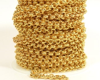 2ft - 18K Gold Plated Rolo Chain - 5.7mm Gold Plated - CH81-18K-GP