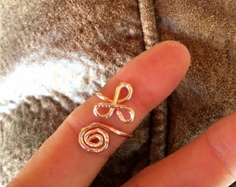 Celtic Swirl Ring - Handcrafted - Copper Slightly Adjustable Sized to Order