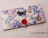 BookLover's Paper Wallet - Butterfly theme, 14 pockets Folder Organizer