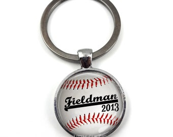 Personalized Baseball Key Chain - Name Baseball Keychain - Custom Baseball Gift for Sports Lover Personalized Sports Name Keepsake