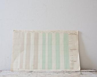 Vintage Paper - Lumber Co Estimate Paper - Vintage Ephemera -  Vintage Paper - Pad of Paper - Supplies List - Receipt Paper