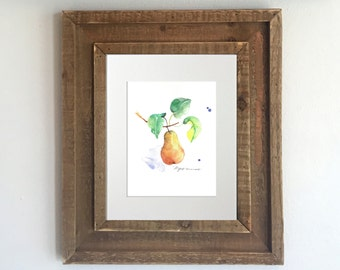 Watercolor pear etsy Pear home decor