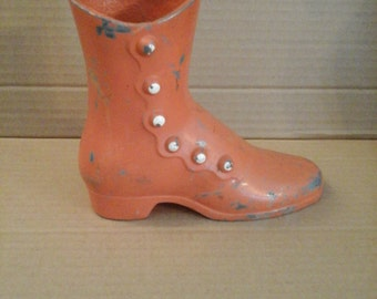 antique vintage aluminum shoe boot