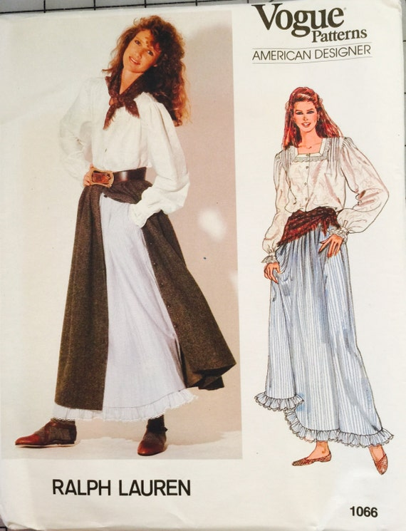 Vogue 1066 tamaño 8 señoritas: blusa falda enaguas y