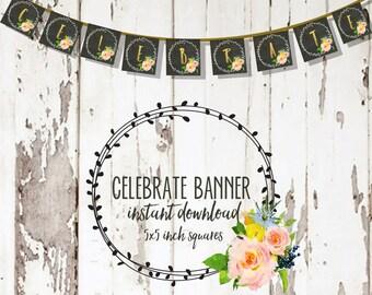 Floral Celebrate banner