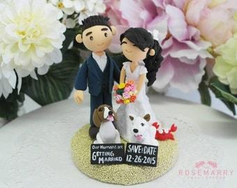 Custom Cake Topper- Save the date