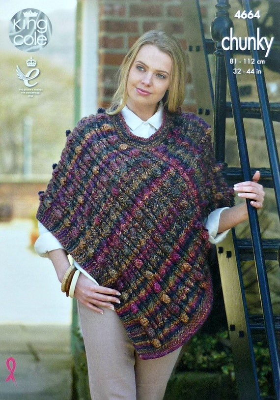 Womens Knitting Pattern K4664 Ladies Round Neck Cable And