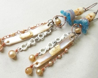 Pirate Wedding Assemblage Earrings