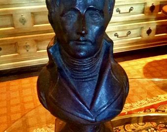 BORGHESE Sculpture Bust Exquisite Italian Art Decor Cast Composite Bronze Tone