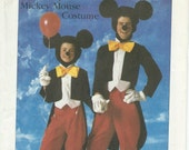 UNCUT Simplicity 7729 Disney Mickey Mouse Costume Pattern Adult Size Small