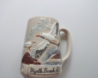 Vintage Myrtle Beach Souvenir Coffee Mug 1970s