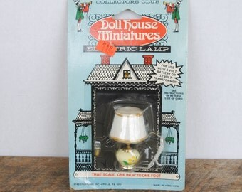 Vintage Electric Lamp Doll House Miniatures Collectors Club Star Creations Inc.