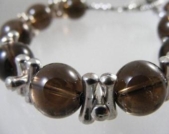 Smokey Quartz Bead Bracelet..... Lot 4462