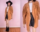 80s Suede Fringe Coat