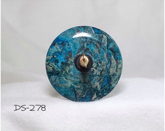 Drop Spindle - DS-278 Blue Crazy Lace Agate