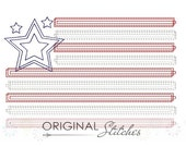 Quick Stitch American Flag Machine Embroidery Design File 4x4 5x7 6x10 8x8