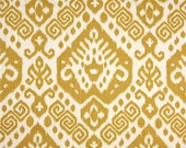 "Two  96"" x 50""  Custom   Curtain Panels - Nate Southwest Maize Yellow"