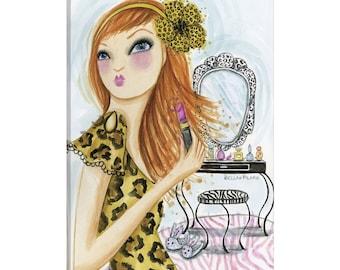 iCanvas Leopard Lipstick Gallery Wrapped Canvas Art Print by Bella Pilar