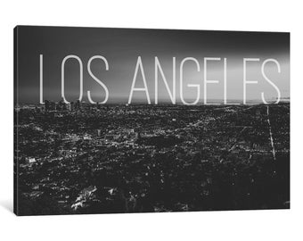 iCanvas B/W L.A. Gallery Wrapped Canvas Art Print by 5by5collective