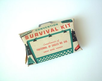 Vintage Convention Survival Kit, Fraternal Of Eagles No. 646, Mid Century Modern, Alka Seltzer, Anacin, Smokers Drops