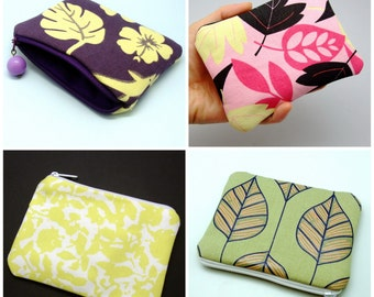 BIG Sale - Small zipper pouch / coin purse /card bag (padded) (ZS-GP3)