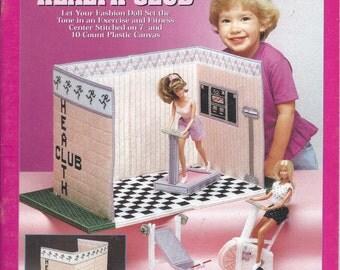 Needlecraft Shop Carry & Play Fashion Doll Health Club Plastic Canvas Pattern