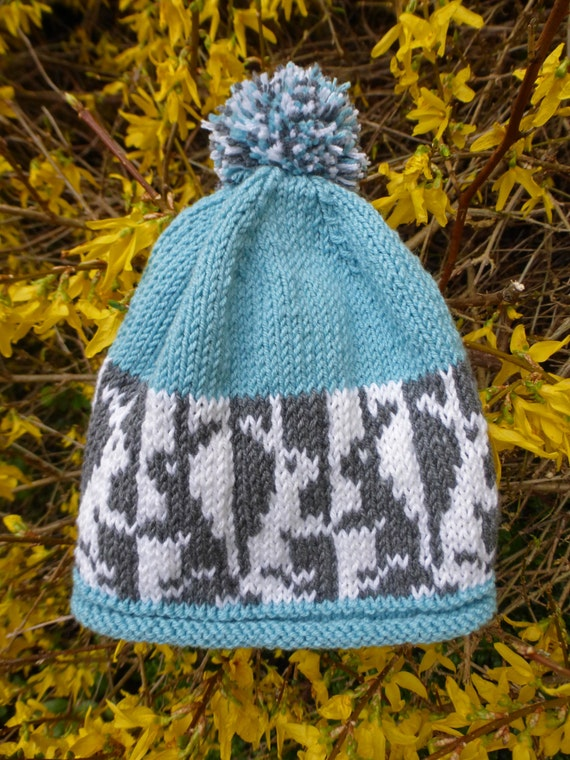 BABY KNITTING PATTERN in pdf - Bunny Baby Hat with Fair ...