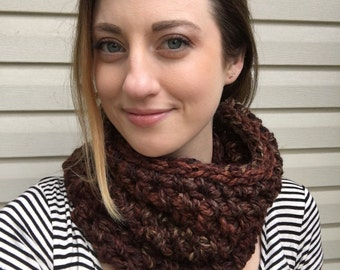 Knitting Pattern For Reversible Braid Cowl Infinity Scarf