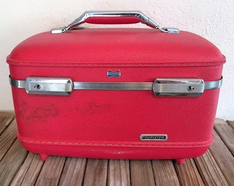Mid Century Red Tourister Train Case