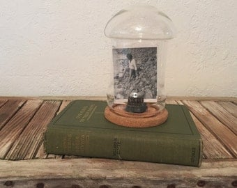 Vintage Dome Cloche with Cork Base Bell Jar