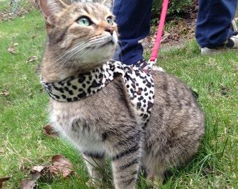 Mynwood Cat Walking Jacket Harness Vest Faux Fur