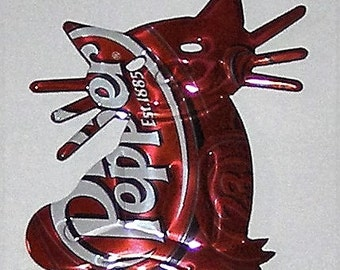 CAT Magnet - 'Whiskers' - Dr. Pepper Soda Can