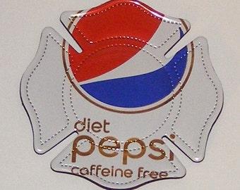 FIREMAN SHIELD Symbol - Diet Caffeine Free Pepsi Soda Can