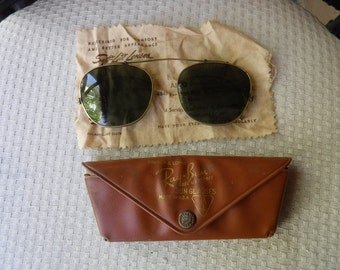 Vintage Ray Ban Bausch & Lomb Snap on Sun Glasses in original case