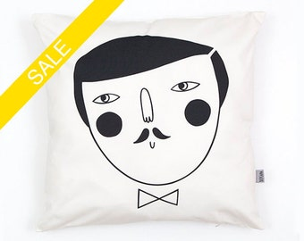 Man Cushion Cover organic cotton twill