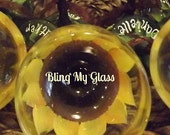 Sunflower wine glasses for my bridesmaids. 8 piece set