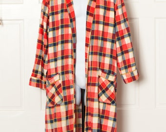 Vintage Housecoat Robe Bathrobe - FEDERAL'S WALDORF - L
