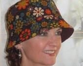 Womens Chemo Hat Cancer Hair Loss Hat Fun Corduroy MEDIUM