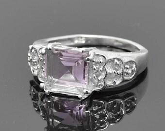 Amethyst Ring, Sterling Silver Ring , Purple Gemstone Ring, February Birthstone Ring, One of A Kind, JubileJewel, Amethyst Jewelry