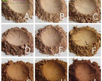 Natural Makeup, Mineral Foundation, Light Mineral Makeup, Matte Powder Foundation, Loose Powder Foundation, Mineral Makeup