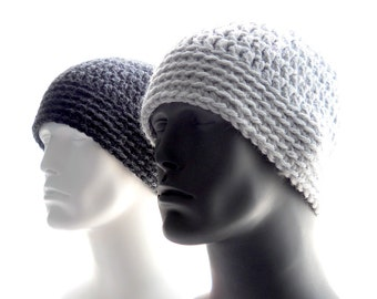 CROCHET PATTERN: The Chunky Guy Beanie for Men, Crochet Hat Pattern, Instant Download PDF