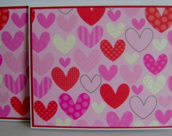 Value Priced *** Set of 2 Pretty Hearts Every Day note cards