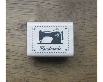 SP13,Vintage Sewing Machine Stamp - 40x30mm